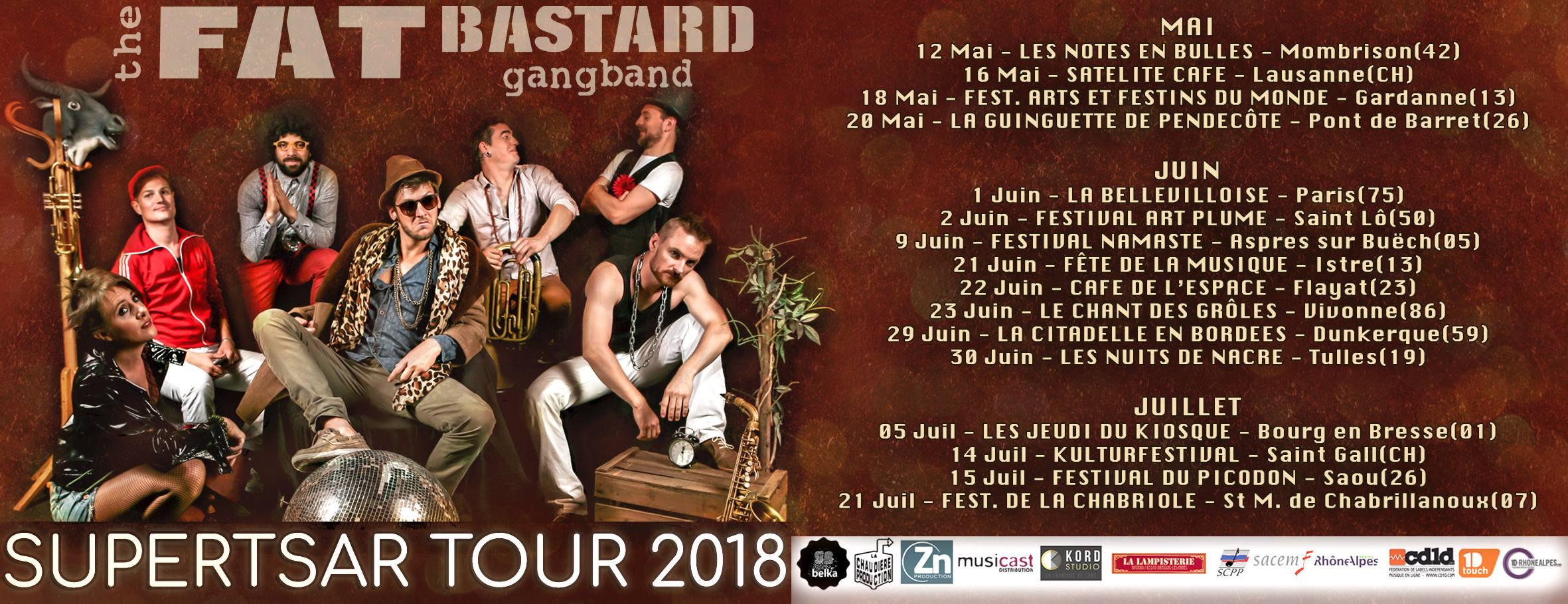 dates de tournée de the fat bastard gangband